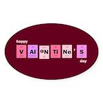 Geek Happy Valentine's Day Sticker (Oval 10 pk)