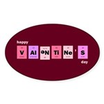 Geek Happy Valentine's Day Sticker (Oval 50 pk)