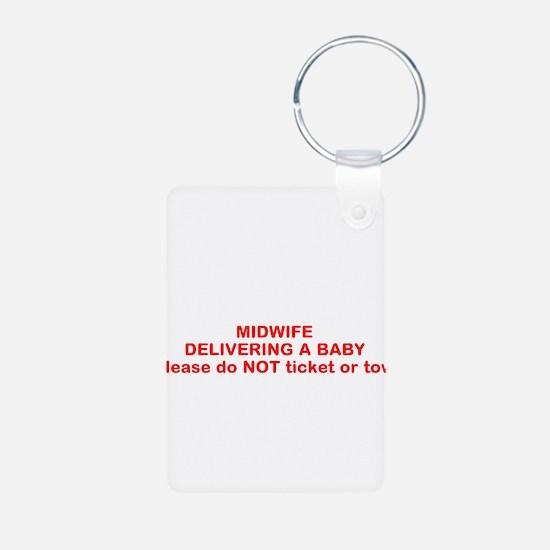 Funny Midwife Aluminum Photo Keychain