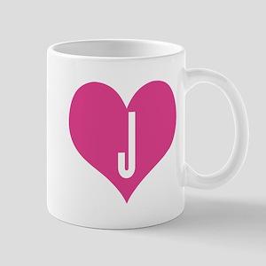 Heart J letter - Love Mug