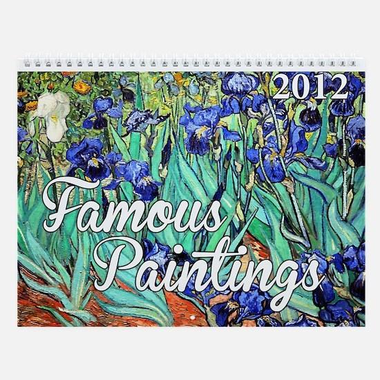 Famous Paintings 3 Wall Calendar