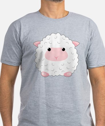 Little Sheep Men's Fitted T-Shirt (dark)