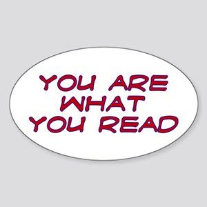 You are what you read Oval Sticker