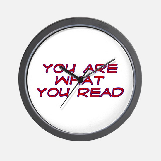 You are what you read Wall Clock