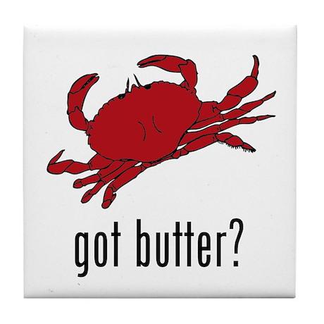 got butter? Tile Coaster