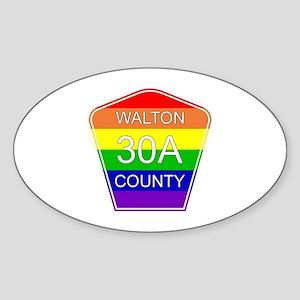 Rainbow 30A Sticker (Oval)