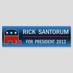 Rick Santorum For President Sticker (Bumper)