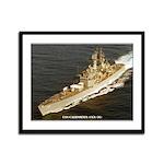 USS CALIFORNIA Framed Panel Print