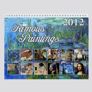 Famous Paintings Wall Calendar