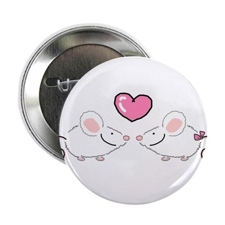 Two Love Mice Button