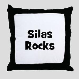 Silas Rocks Throw Pillow