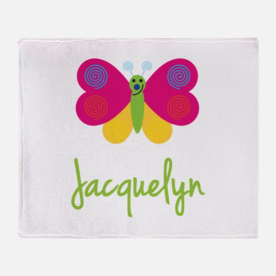 Jacquelyn The Butterfly Throw Blanket