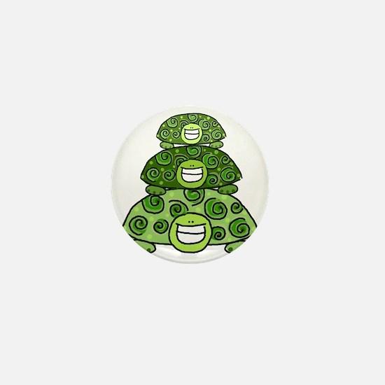 Three Turtles Mini Button