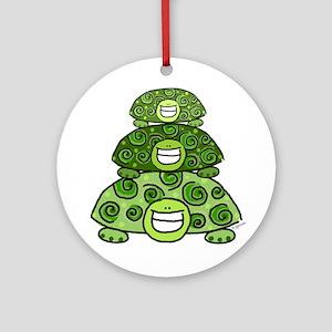 Three Turtles Ornament (Round)
