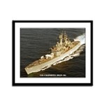 USS CALIFORNIA Framed Panel Print