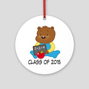 Class of 2015 Teddy Bear Ornament (Round)