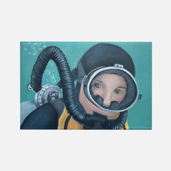 Double Hose Diver Rectangle Magnet