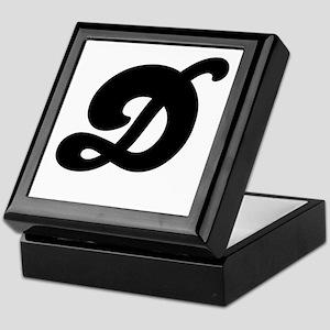 Fun Funky letter D Keepsake Box
