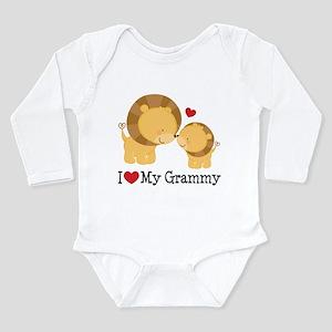 I Heart My Grammy Long Sleeve Infant Bodysuit