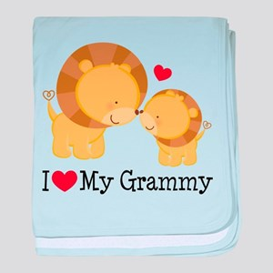 I Heart My Grammy baby blanket