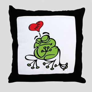 Frog Valentines Day Throw Pillow