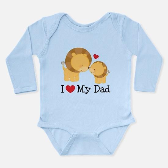 I Heart My Dad Long Sleeve Infant Bodysuit