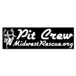 Midwest Rescue10x3 WhiteOnBlack Bumper Sticker