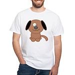 Brown Puppy White T-Shirt