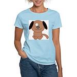Brown Puppy Women's Pink T-Shirt