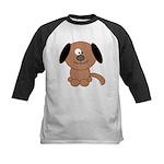 Brown Puppy Kids Baseball Jersey
