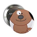 Brown Puppy Button