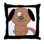 Brown Puppy Throw Pillow