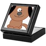 Brown Puppy Keepsake Box