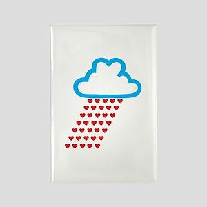 Raining Love Rectangle Magnet