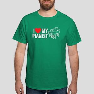 I Love My Pianist Dark T-Shirt