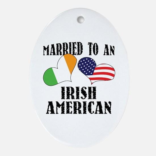 Married Irish American Ornament (Oval)