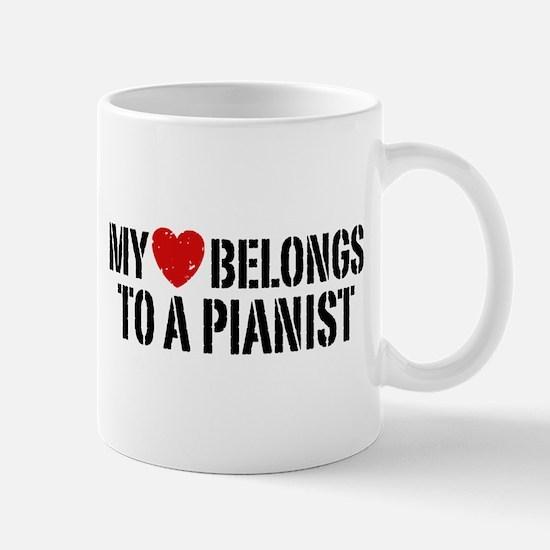 My Heart Belongs To A Pianist Mug