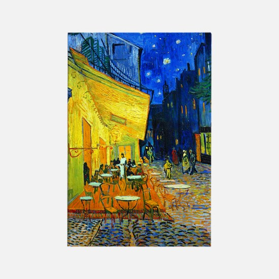Van Gogh - Cafe Terrace Rectangle Magnet