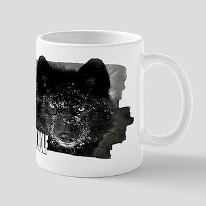 black wolf Mug