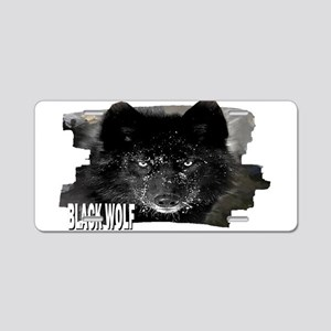 black wolf Aluminum License Plate