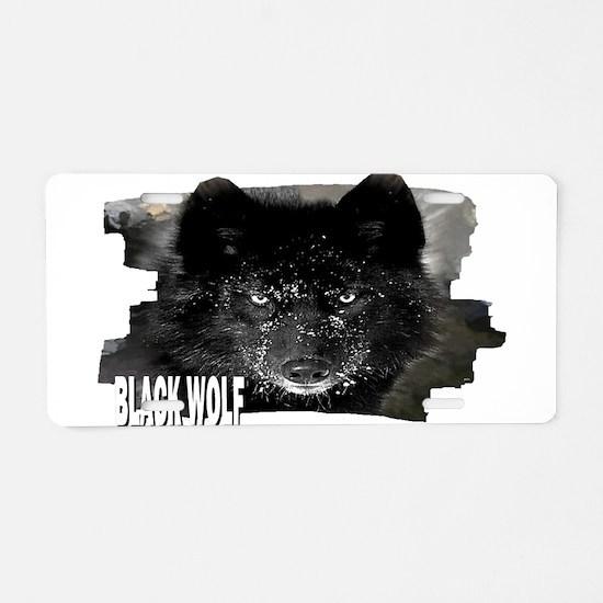 black wolf Aluminum License Plate