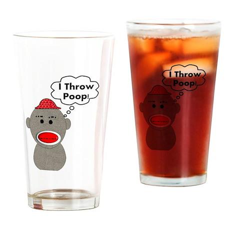 Sock Monkey Drinking Glass