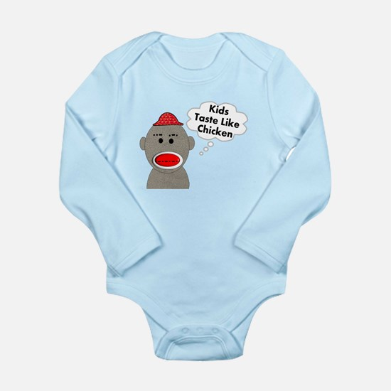 Sock Monkey Long Sleeve Infant Bodysuit