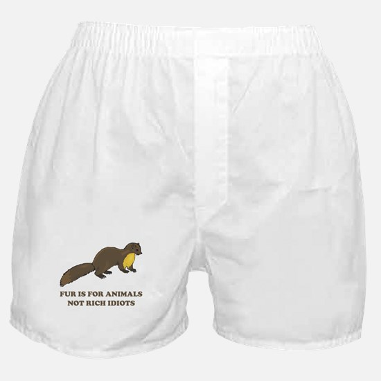 Fur is for animals Boxer Shorts