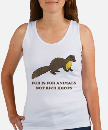 Fur is for animals Women's Tank Top