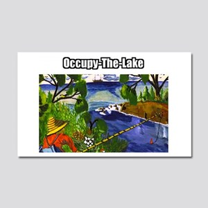 Occupy The Lake Car Magnet 20 x 12