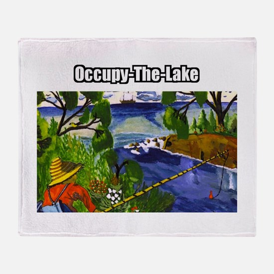 Occupy The Lake Throw Blanket
