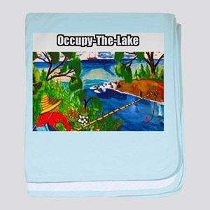 Occupy The Lake baby blanket