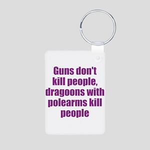 Dragoon Humor Aluminum Photo Keychain