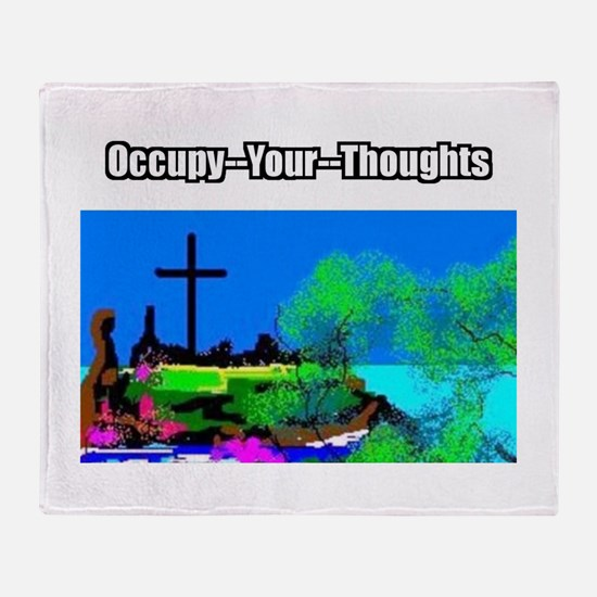Occupy Thoughts Throw Blanket